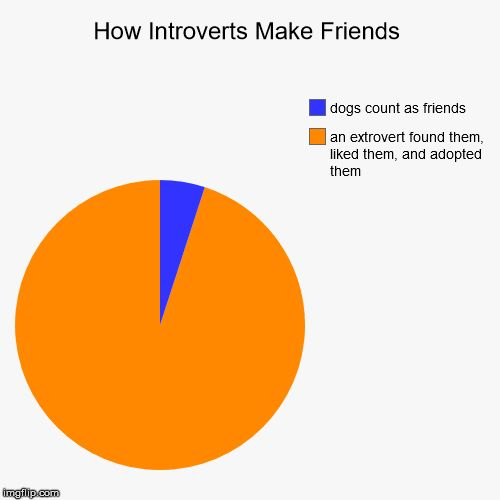 Yup, pretty much. Or I found mutually awkward people through an uncomfortable situation at school.