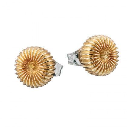 Kalevala Koru / Kalevala Jewelry / Pyörre-korvakorut / Swirl Earrings / Design Vesa Nilsson / Bronze & Silver