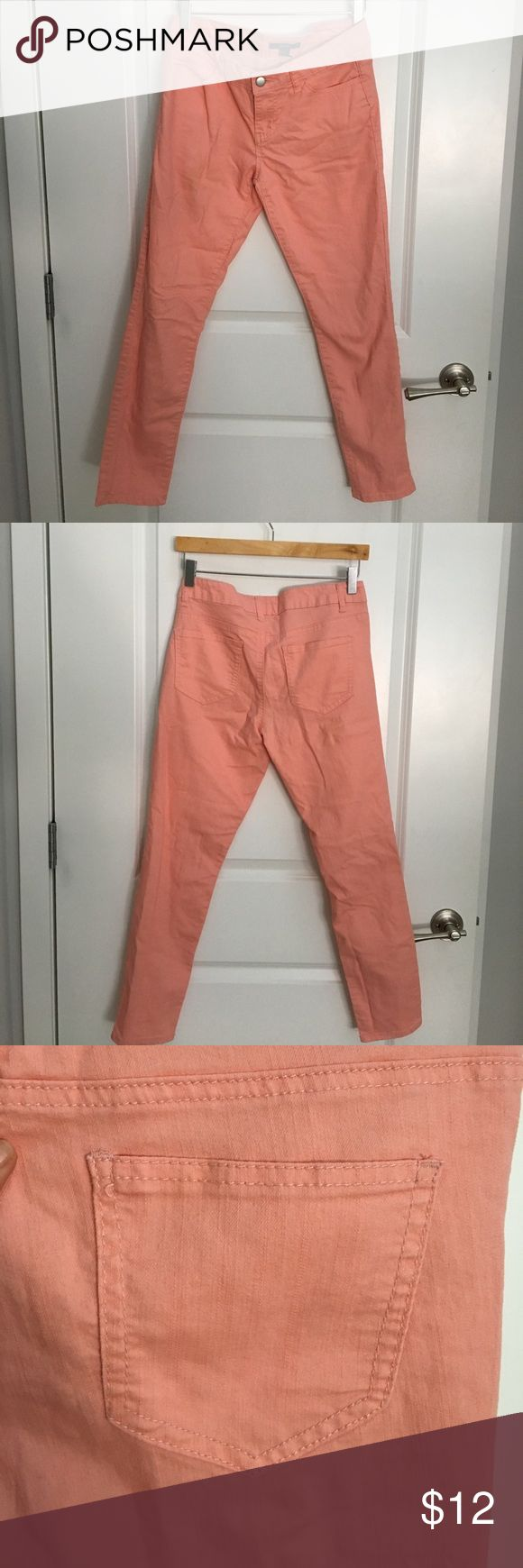 Coral skinny jeans Coral skinny jeans originally from forever 21. Smoke free home. In good shape. Forever 21 Jeans Skinny