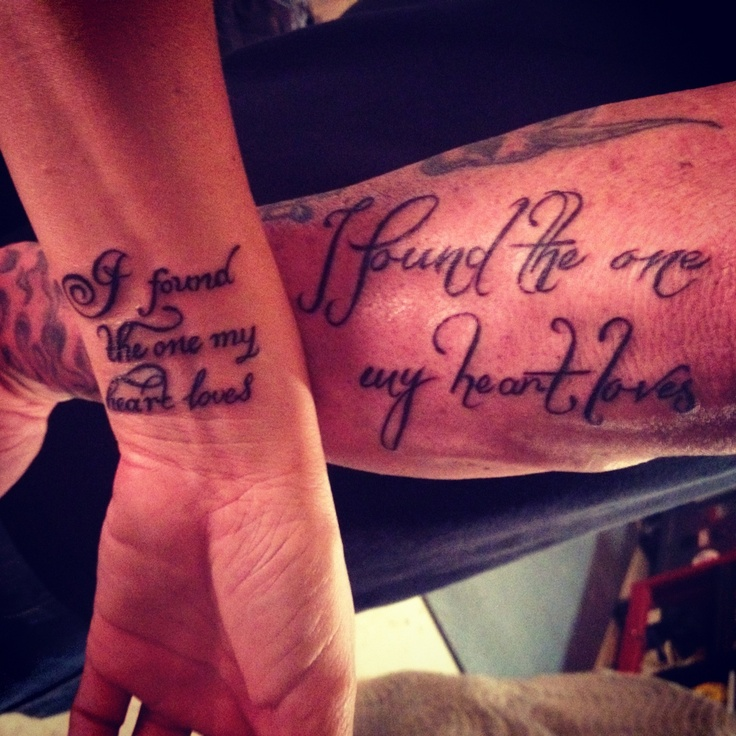 """I found the one my heart loves"" tattoo.  (Song of Solomon 3:4)  - I really want this when i get married"