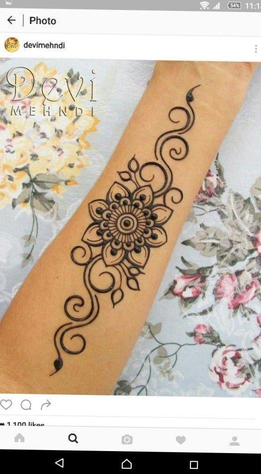 e65ad6b0aba9c #hennatattoo #tattoo tribal band tattoos, 3 lines tattoo meaning, tattoo  designs womens, rose tattoo on the neck, cross with rose tattoo designs, ...