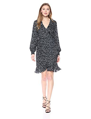 Long sleeve wrap dress with smock detailing on sleeves.  http://darrenblogs.com/us/2018/03/08/vero-moda-womens-henna-smock-short-wrap-dress/