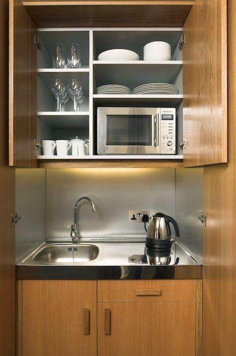 12 best diy guest room kitchenette images on pinterest - Vestir un armario por dentro ...