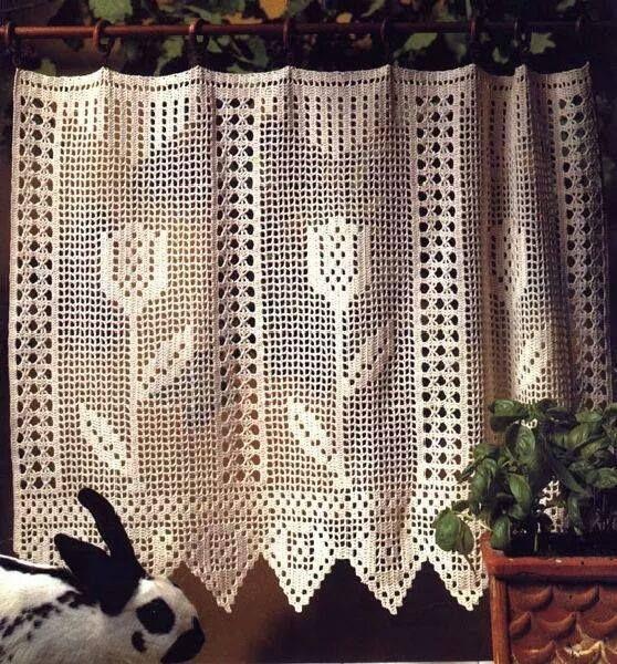 cortina de croche