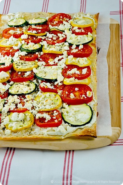 Tarte Flambée: Zucchini, Fennel and Goat Cheese or Tomato ...