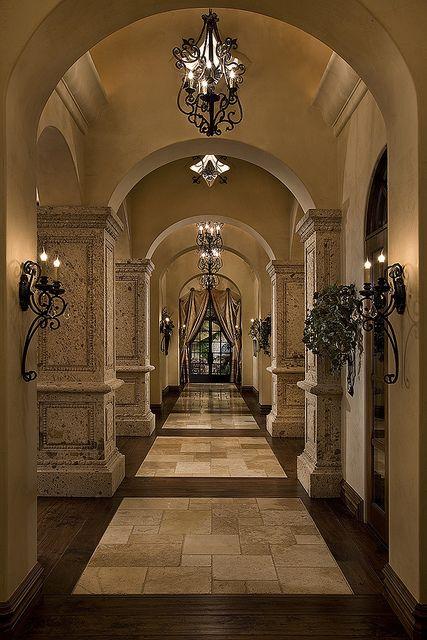 Love the stone and wood floor contrast. Fratantoni Luxury Estates. www.FratantoniLuxuryEstates.com