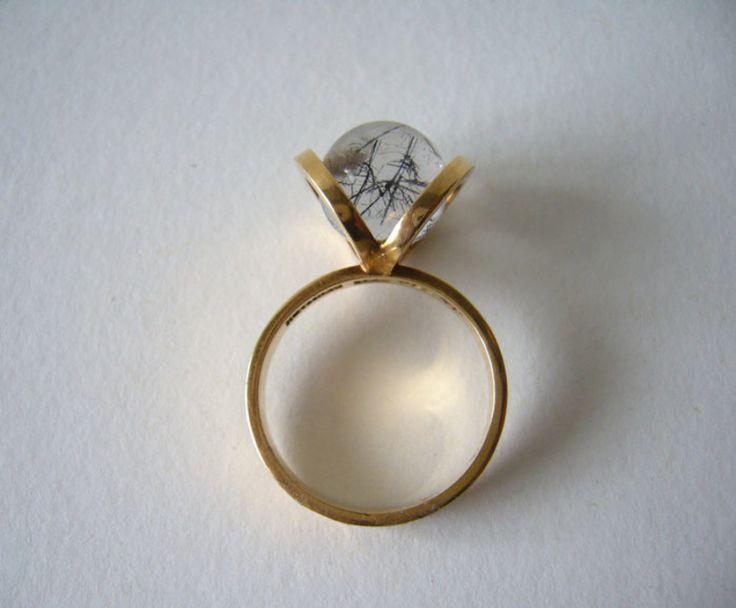 1960's Danish Rutilated Quartz Ring