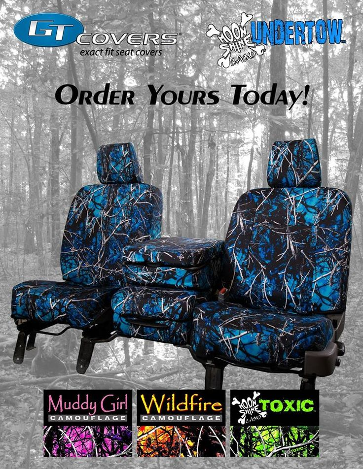GT Covers is now making seat covers in ‪#‎UndertowCamo‬, ‪#‎WildfireCamo‬…