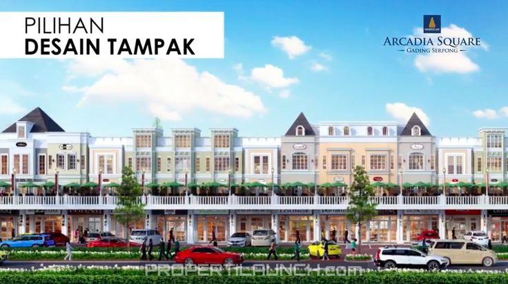 Pilihan Desain Tampak Muka Bangunan Ruko Arcadia Serpong