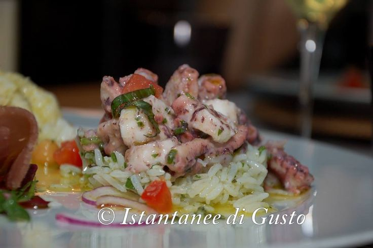 """Octopus,Patatoes and Basmati"" Photo by: ""Instantanee di Gusto"" Guest: Pellino Vincenzo  #restarant #food #Assisi"