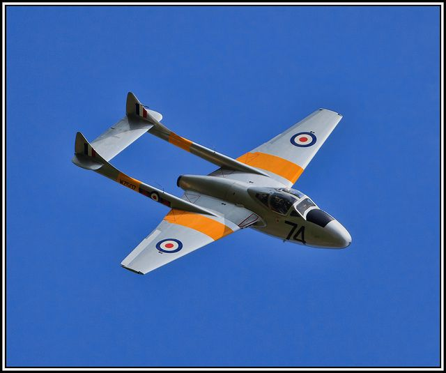 De Havilland Vampire T.11  #plane #1950s. My Daddy used to work on these at RAF Valley