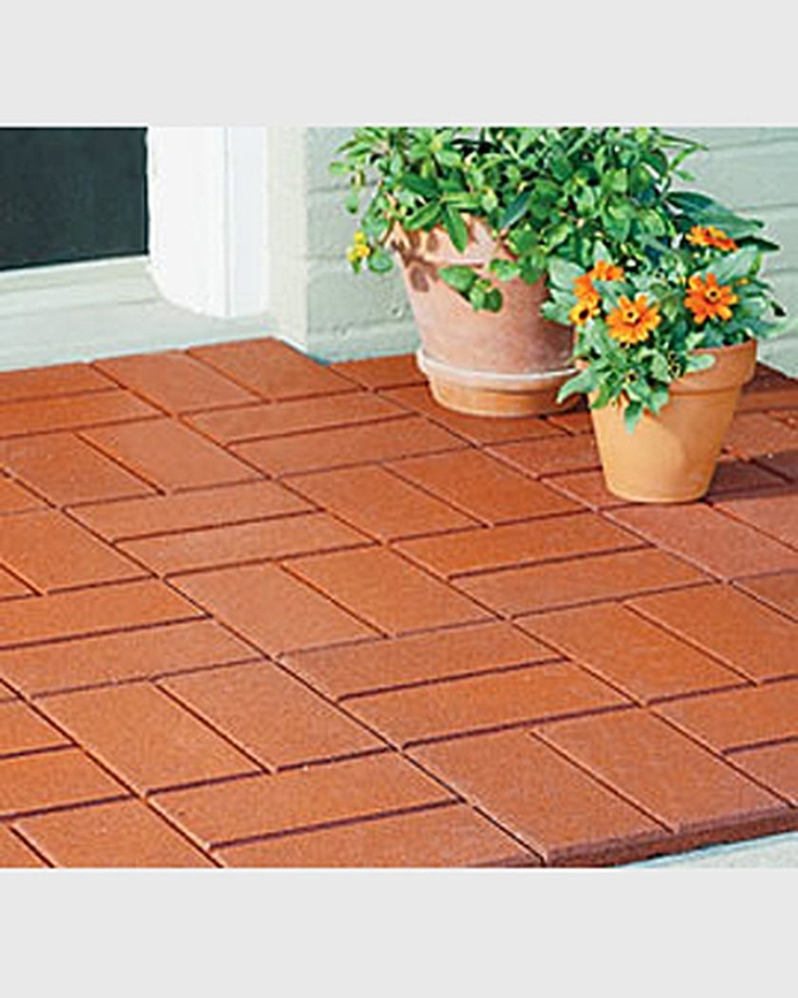Rubber Brick Pavers  Perfect For Patio Flooring And Kid Friendly :)