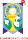 applique Easter Cup and Cross Garden Flag - 5 left
