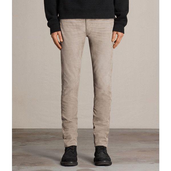 AllSaints Cromwell Rex Cords (7.685 RUB) ❤ liked on Polyvore featuring men's fashion, men's clothing, men's pants, men's casual pants, stone, men's 5 pocket pants, men's 5 pocket corduroy pants, mens stretch pants, men's five pocket pants and mens corduroy pants