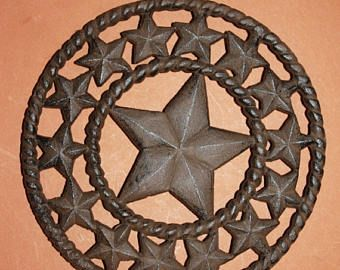 """13% OFF 1)pc, Cast iron Lone star Trivet, Lone Star kitchen decor, Country Western trivet, Texas kitchen, 8"""", cast iron, free shipping, W-40 by wepeddlemetal. Explore more products on http://wepeddlemetal.etsy.com"""