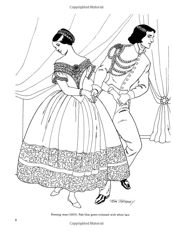 Dover Fashion Coloring Pages