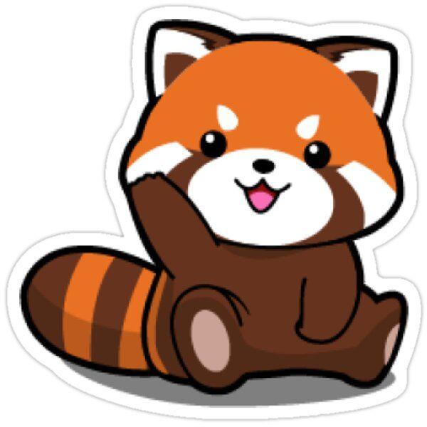 Red Cute Panda Sticker By Deepsweller In 2021 Red Panda Cartoon Cute Bear Drawings Red Panda Cute