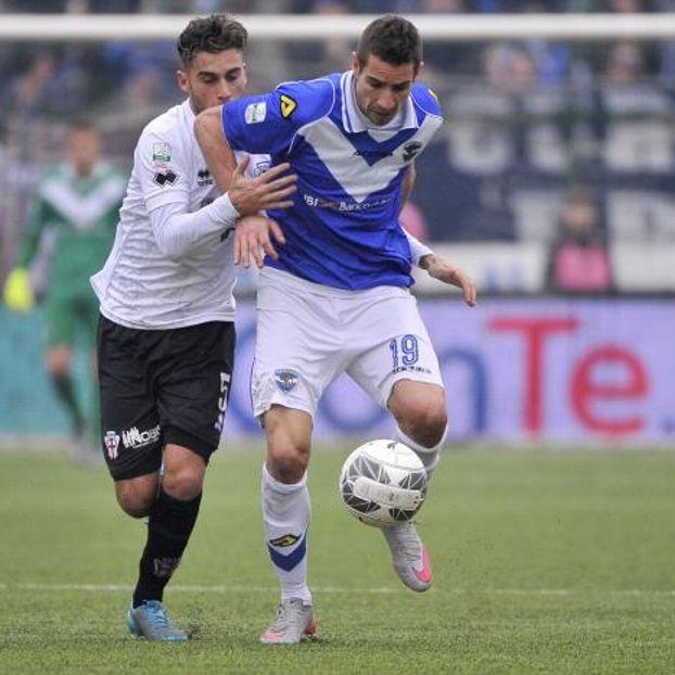 Fausto #Rossi #ProVercelli contro Alexandre #Geijo #Brescia