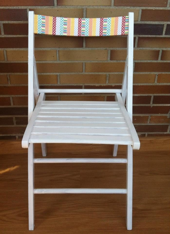 washi tape chair