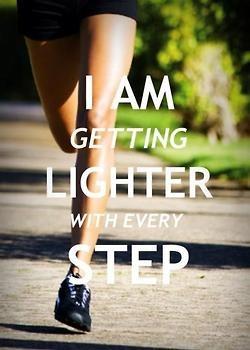 Running it's make you lighter
