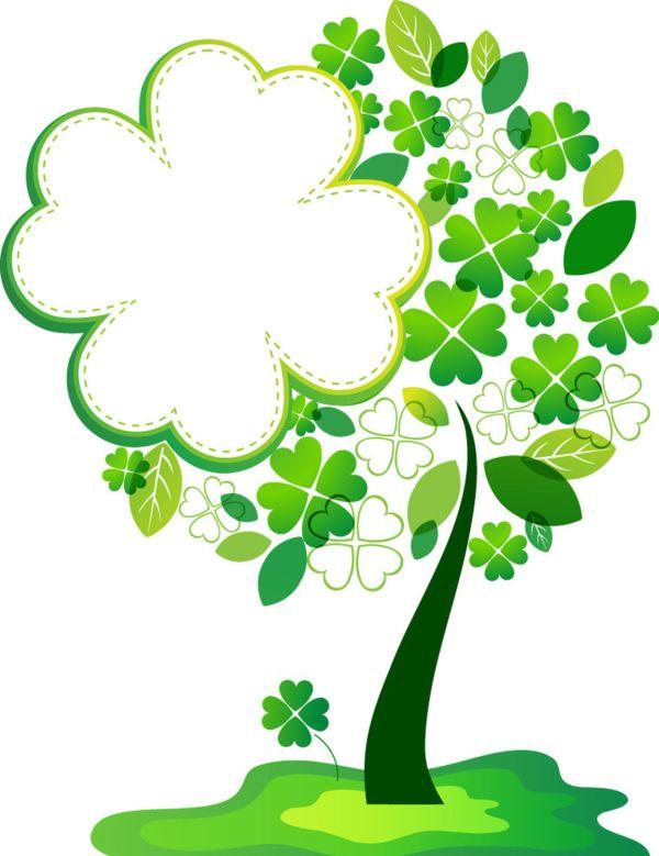 ST. PATRICK'S DAY TREE ~ Luky four leaf clover