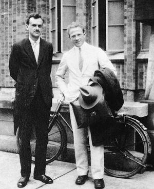 Heisenberg & Dirac: dapper fellas. See also: string theory, quantum mechanics, uncertainty, chaos.