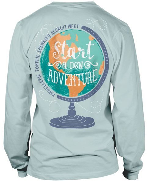 Panhellenic Sorority Recruitment T-shirt | Sorority Life | Greek T-shirts | Greek Life | Globe |