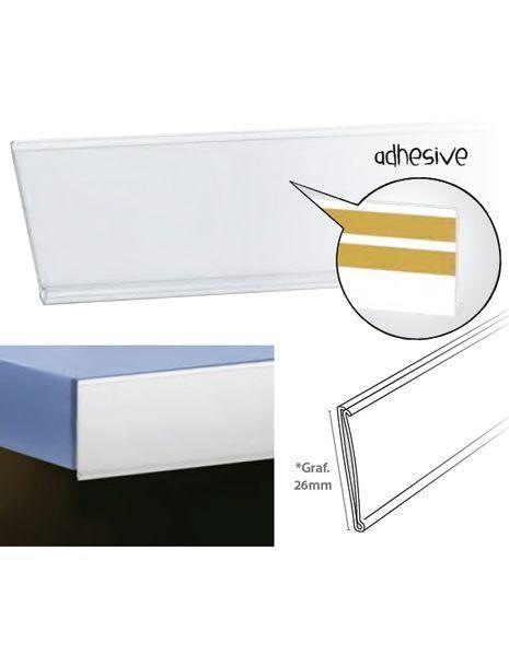 Perfil Etiquetero Porta Precio Adhesivo A-26 (25 unidades) https://doncarteltienda.es/producto/perfil-etiquetero-porta-precio-adhesivo-a-26/