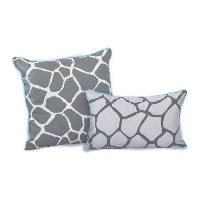 EZ Living Home Giraffe Dec Pillow Grey