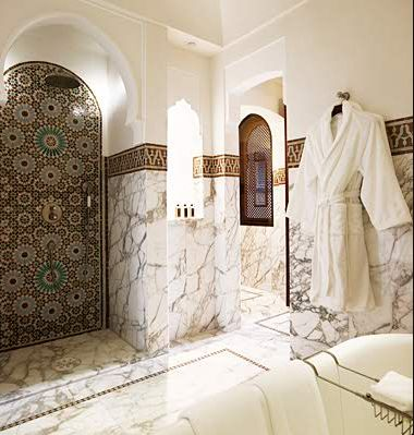 Love The Marble And The Moroccan Style Mosaic Tile In The