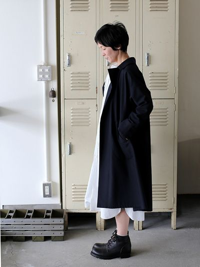 Button less coat~cotton wool 1