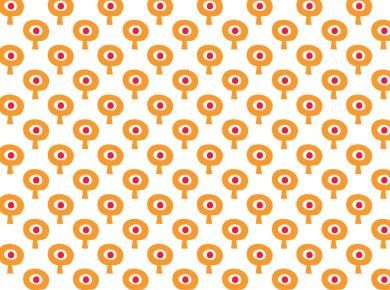Tis retro bomenbehang in oranje/rood | Tis Lifestyle: the official website