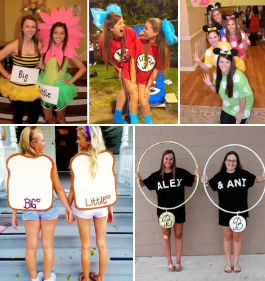 Matching big/little reveal costume ideas!  |
