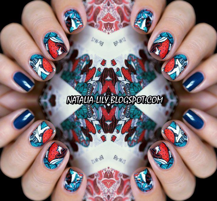natalia-lily: Beauty Blog: GOLDEN ROSE RICH COLOR 108 + NAKLEJKI WODNE BPS BP-W12   Manicure