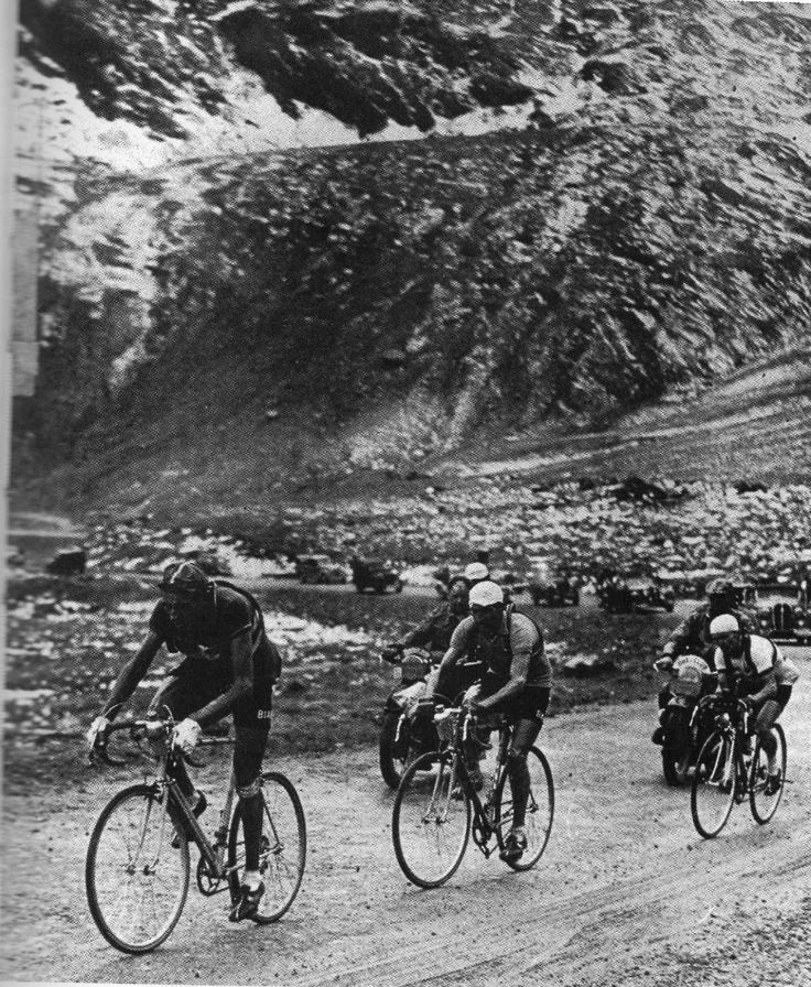 Tour de France, Stage 17, 1949 - Coppi, Bartali and Jean Robic are chasing a certain Giuseppe Tacca!