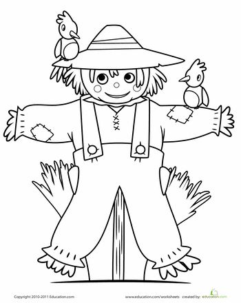 Ridiculous image with regard to printable scarecrow coloring pages