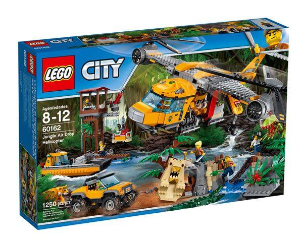 60162 Jungle Air Drop Helicopter : Quelques visuels pour un set LEGO City très réussi: Je ne m'intéresse que rarement aux sets de la… #LEGO