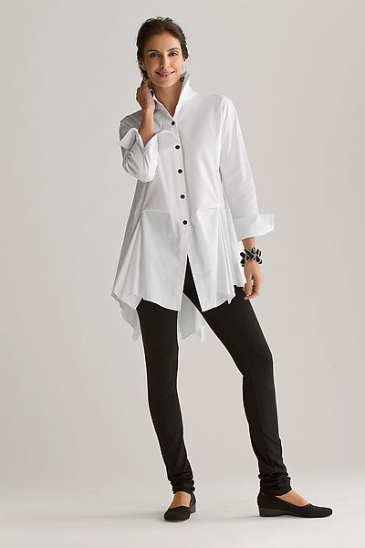 """Peplum Shirt""  Cotton Woven Shirt created by Planet Clothing on Artful Home"