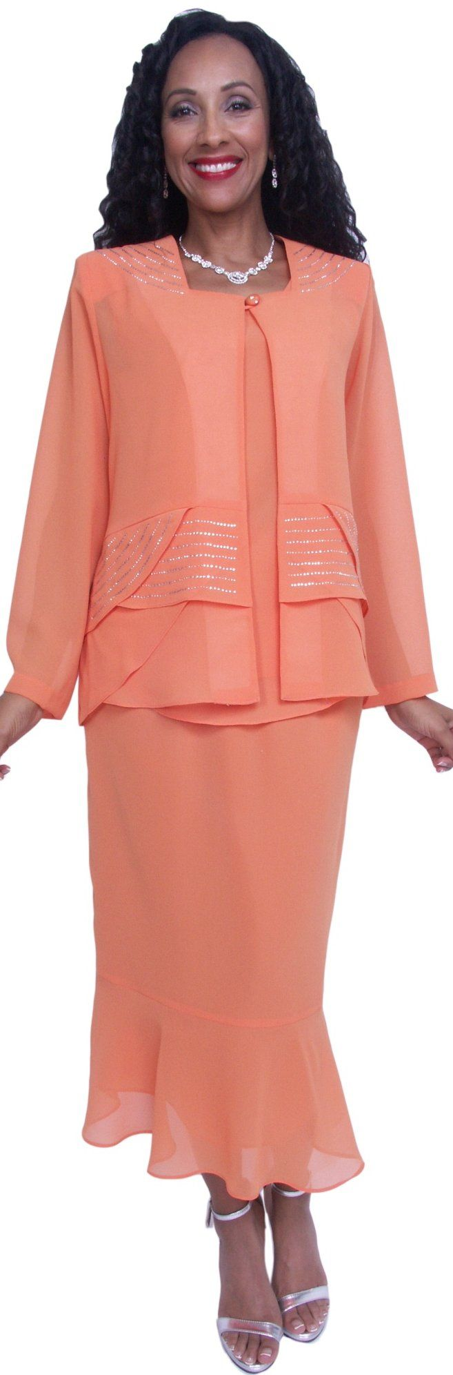 Dinner Party Plus Size Dress Orange Tea Length #discountdressshop #partydress #orangedress #tealengthdress #formalwear