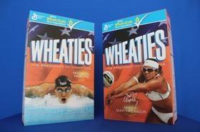 Michael Phelps, Misty May-Treanor, Wheaties box