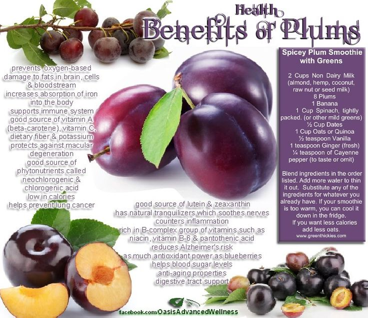 Oasis Advanced Wellness: Benefits of Plums