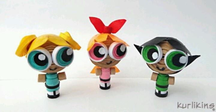 Powerpuff girls / Superchicche (3D Quilling!!!)