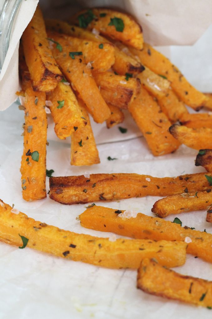 A low calories and low carb alternative to french fries. These Butternut Squash Fries are a perfect way to get your fussy eaters eating more veg!