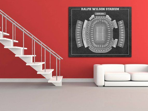 Print Of Vintage Ralph Wilson Stadium Seating Chart Seating Chart On Photo Paper Matte Paper Or Canvas Sports Wall Art Photo Paper Vintage Prints