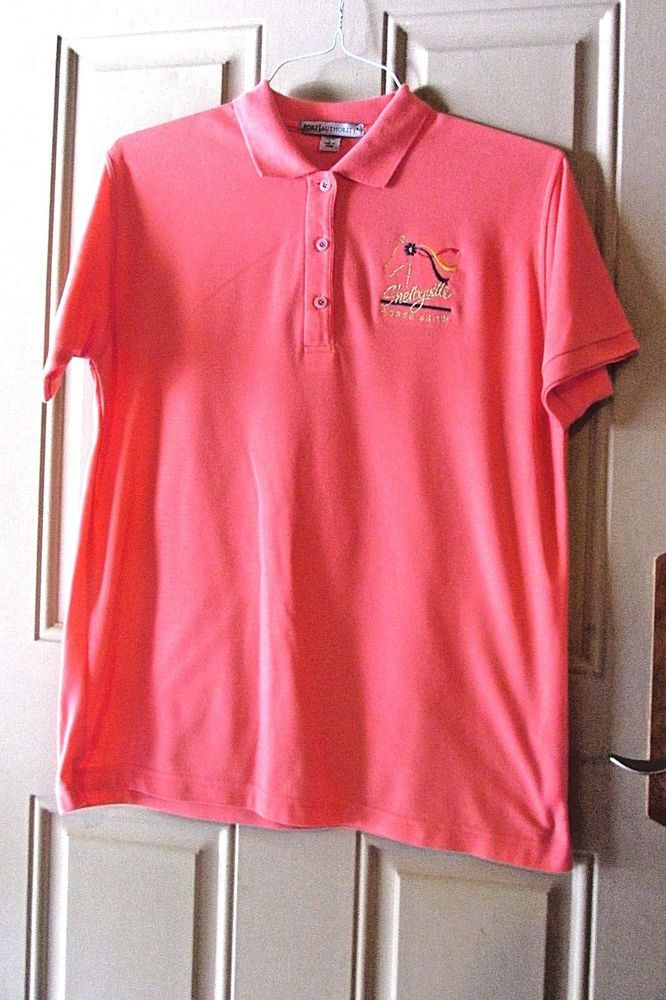 Port Authority Shelbyville Horse Show Ladies Polo Shirt Size L Coral #PortAuthority #PoloShirt #Casual