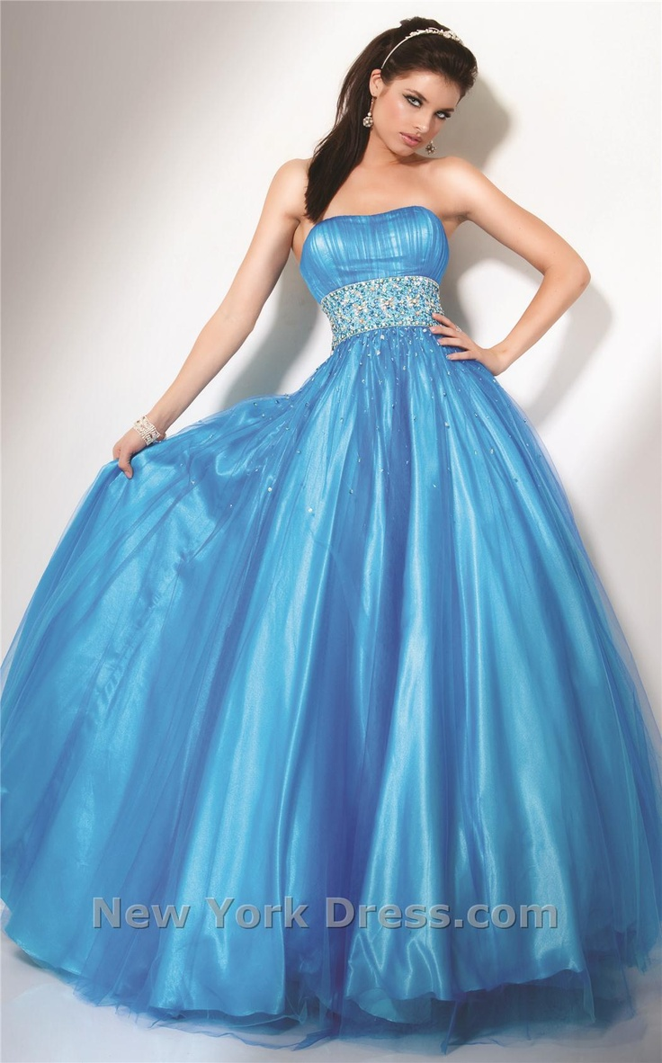 I love the pretty chunks of sparkles floating down from the bodice.
