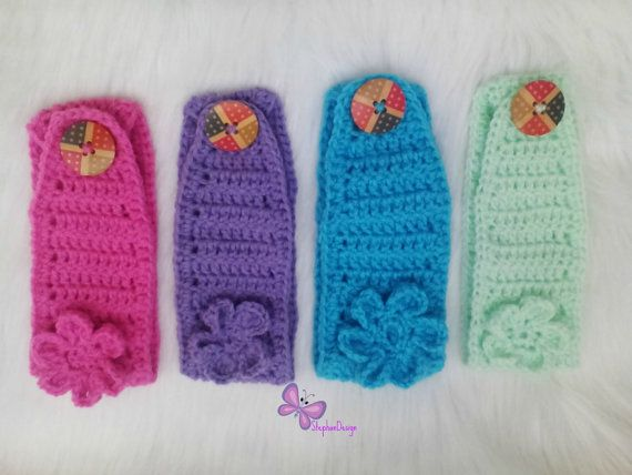 Crochet Baby Headband Crochet Toddler Girl's Ear by StephanDesign