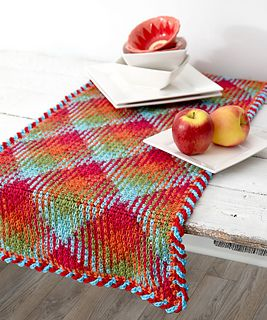 Ravelry: Planned Pooling Argyle Table Runner pattern by Marly Bird