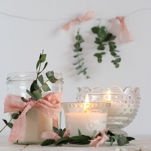 Repurpose old jars with this simple soy candle DIY