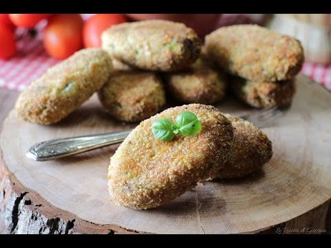 Crocchette di Melanzane e zucchine cotte al forno